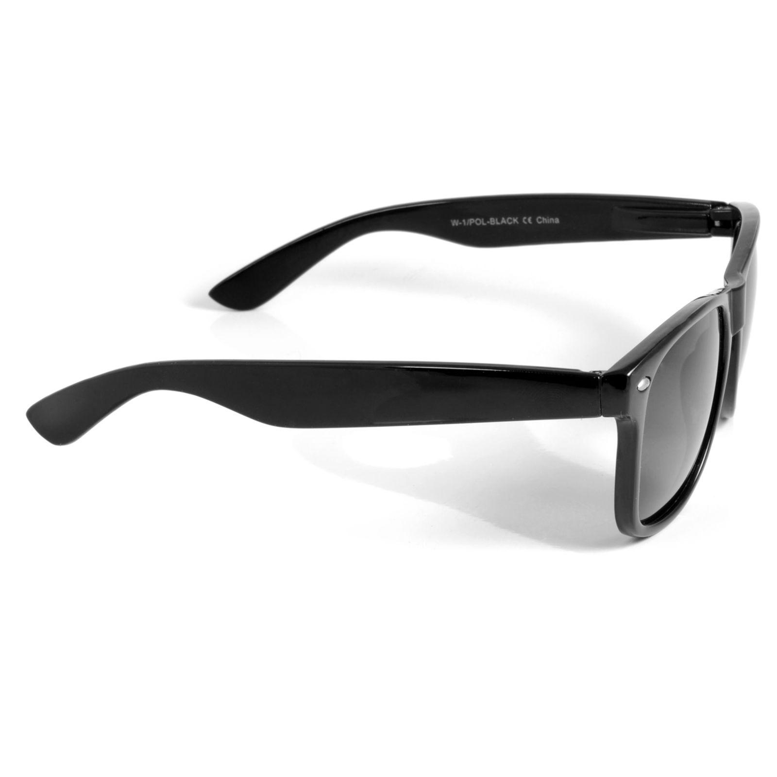 98eca4350c6f1a Zwarte Retro gepolariseerde Zonnebril