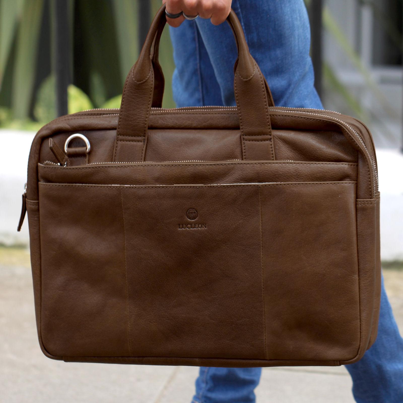 Ruskea California-laukku kannettavalle tietokoneelle  44f461ea25