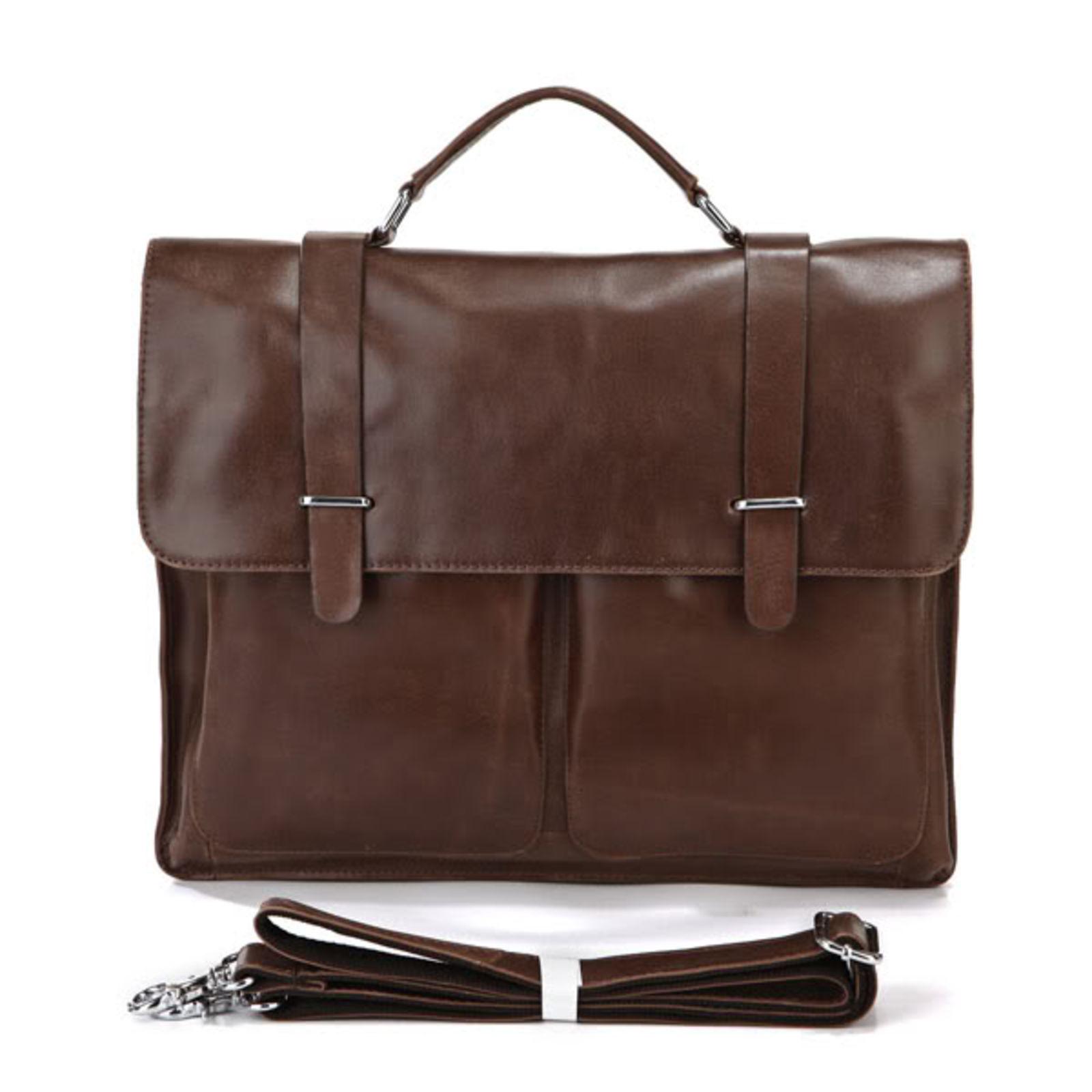 Marlano Dark Brown Leather Case Delton Bags