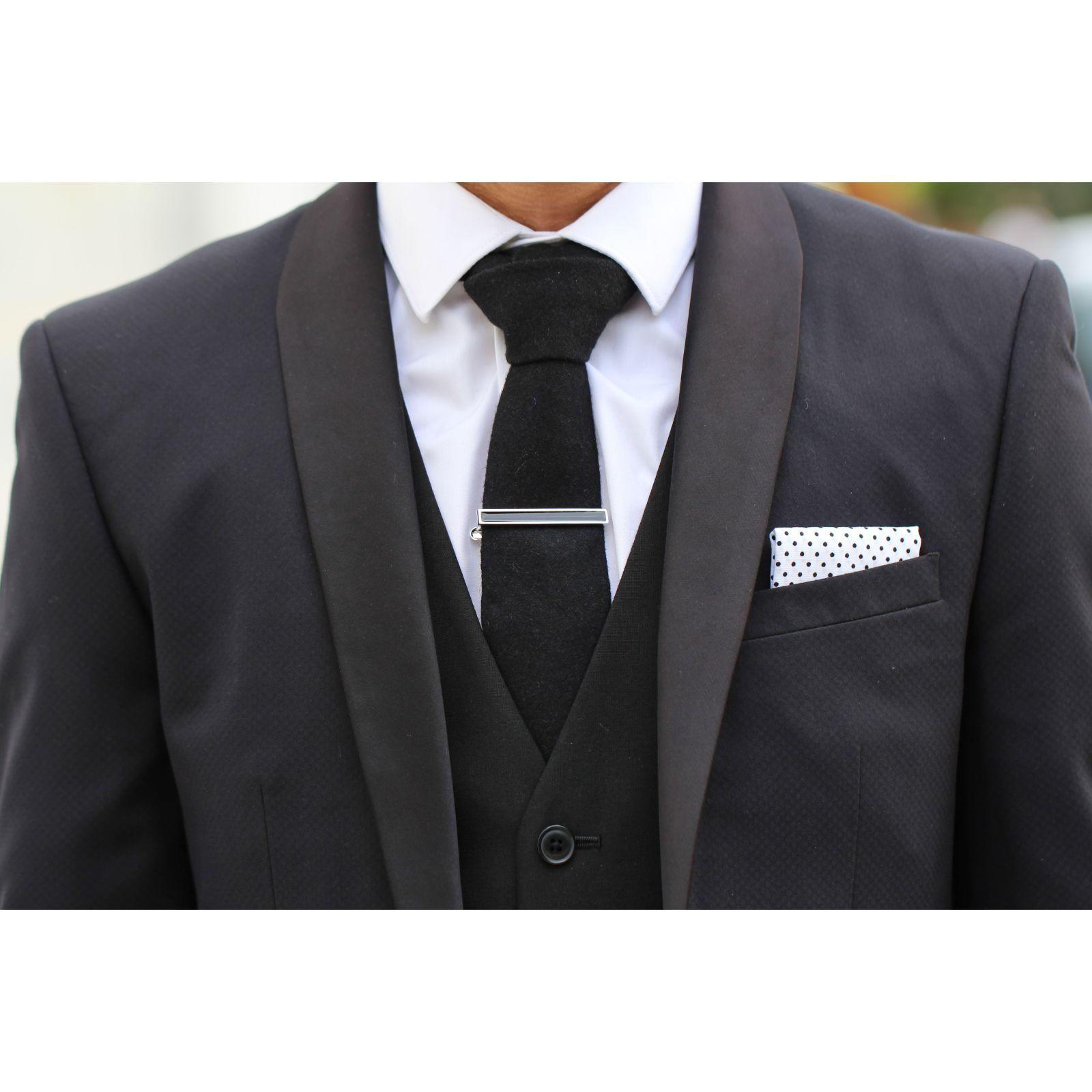 Striped Short Tie Clip Trendhim