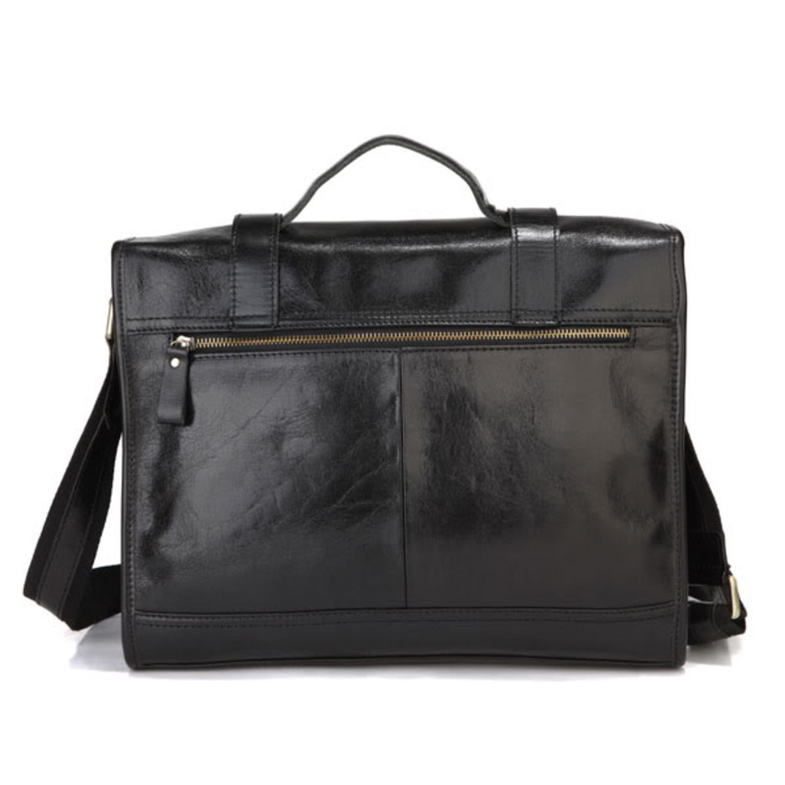 1ffefe01c9 Μαύρη Δερμάτινη Τσάντα Principal