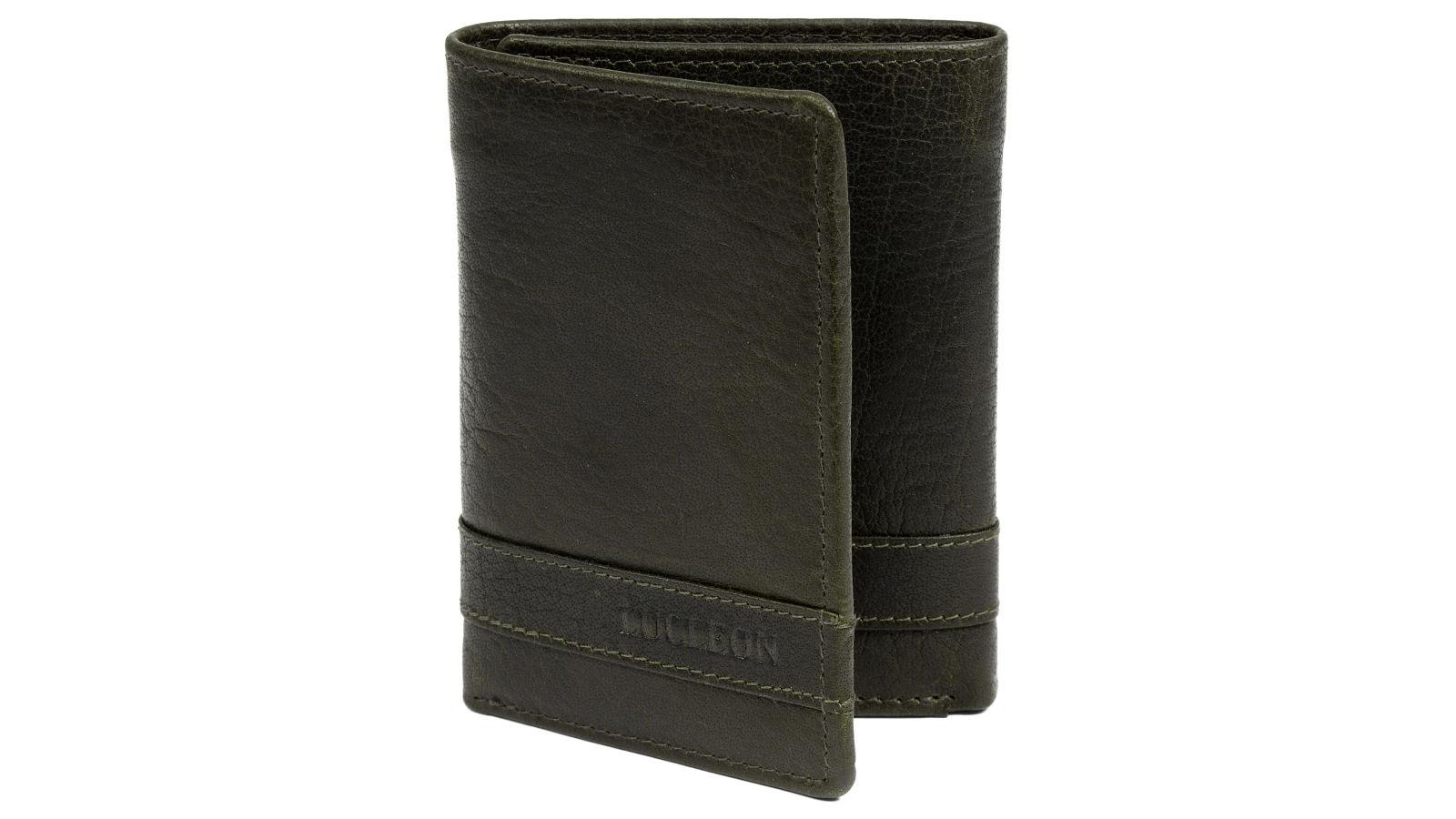 portefeuille montreal trois volets en cuir vert olive rfid port gratuit lucleon. Black Bedroom Furniture Sets. Home Design Ideas
