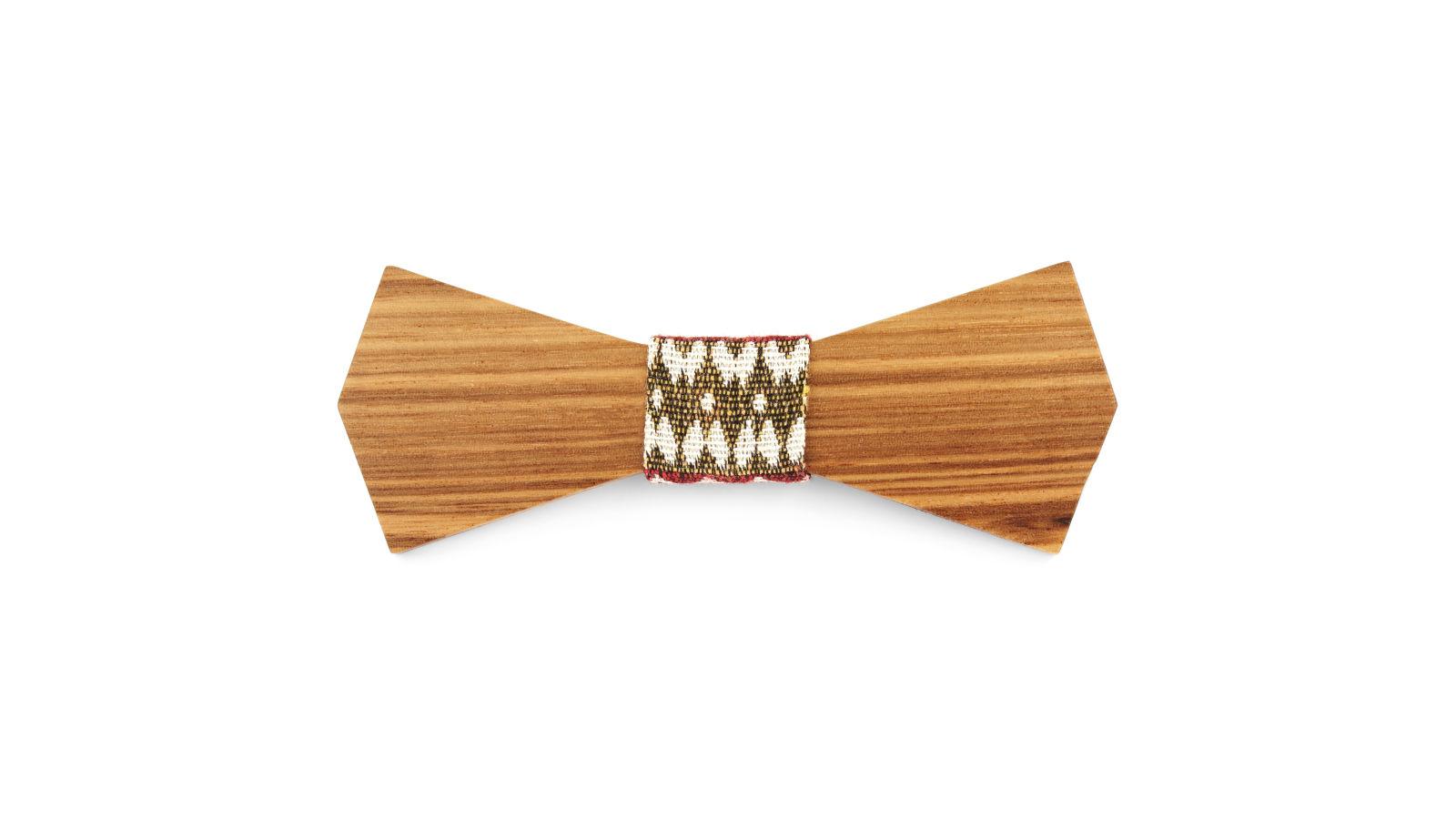 N ud papillon tribal en bois de zebrawood port gratuit tailor toki - Trend corner frais de port gratuit ...
