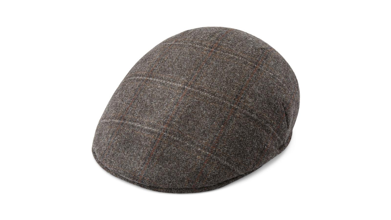Gorra plana de lana gris Fido Country  44b32b0f714
