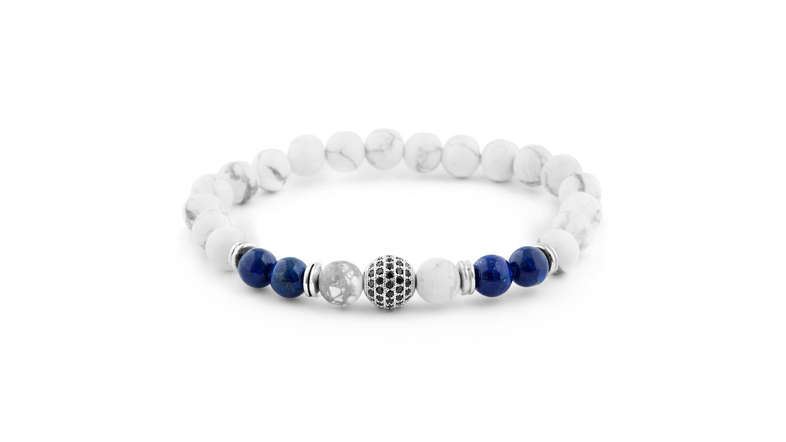 Bracelet de pierre blanche royale port gratuit neshraw - Trend corner frais de port gratuit ...