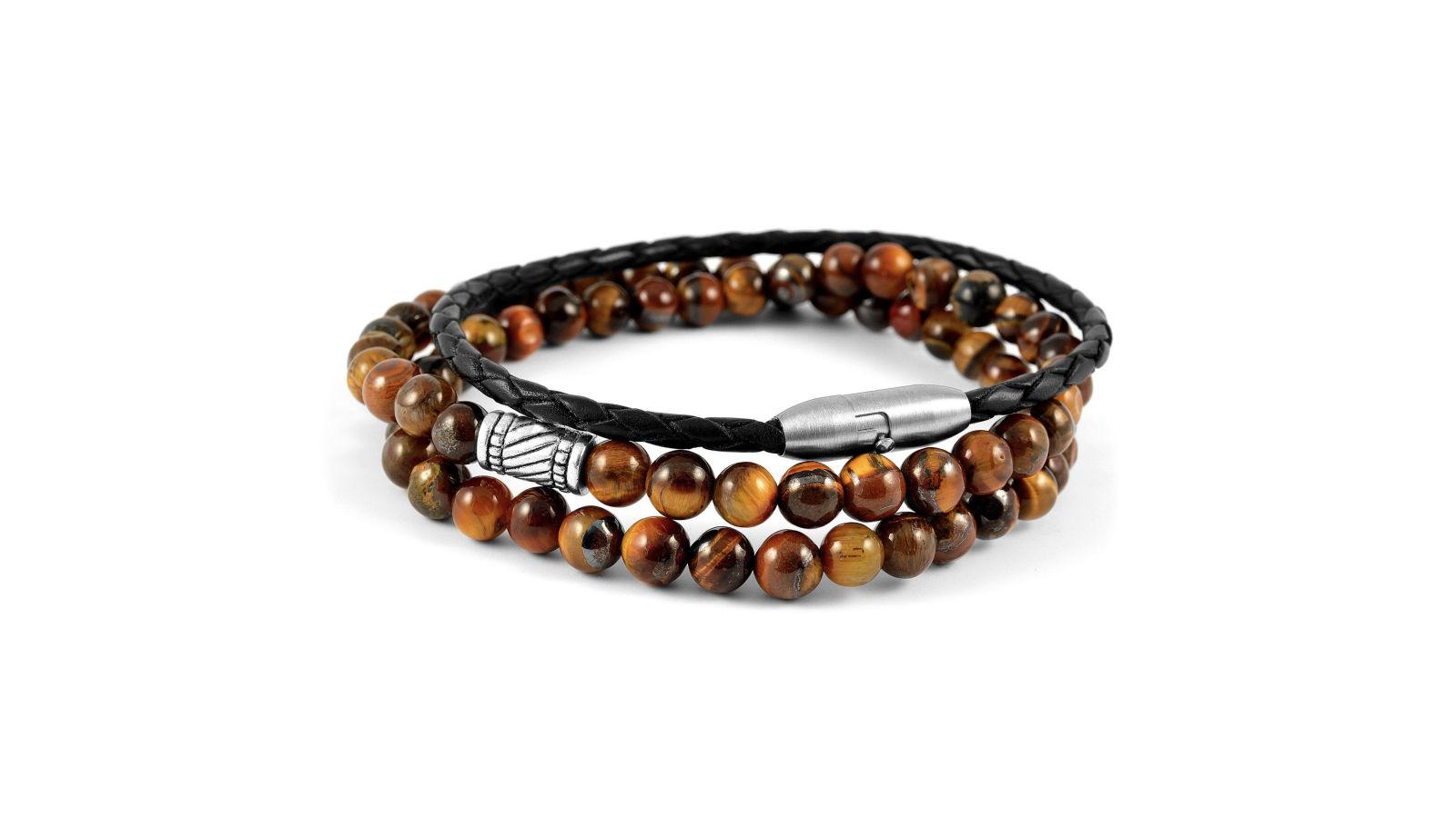 Bracelet de pierres marrons oeil de tigre port gratuit neshraw - Trend corner frais de port gratuit ...