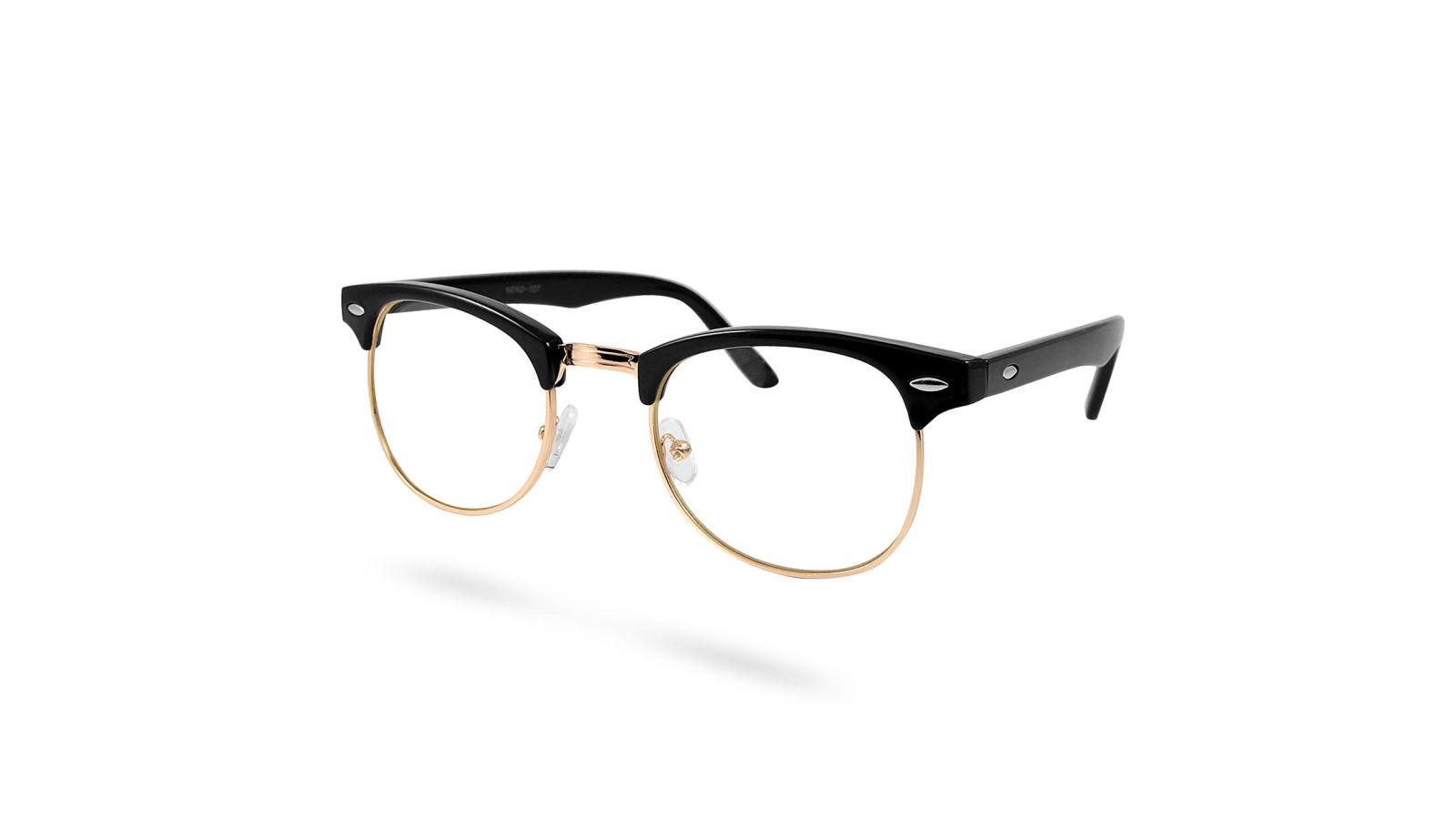 f6abd2efb9a4a6 Zwart   Gouden Transparante Vintage Bril