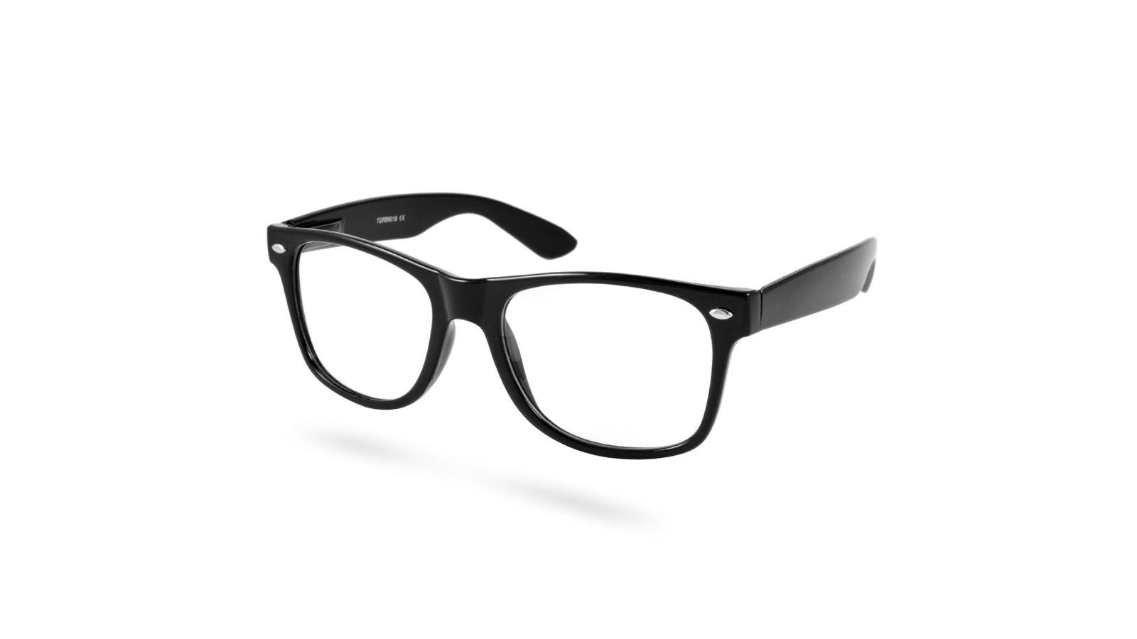 c76d05fa7ebc Sorte Retro Briller Med Klart Glas