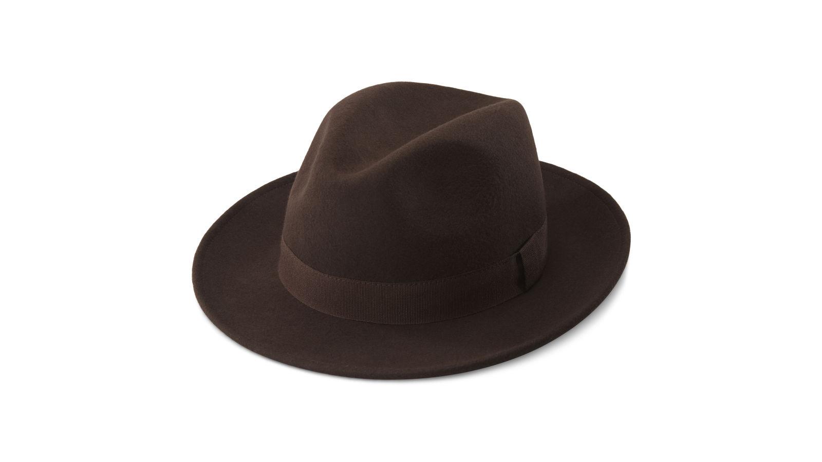 Hnědý vlněný klobouk Fedora Alessandria Fido  8b5a349549