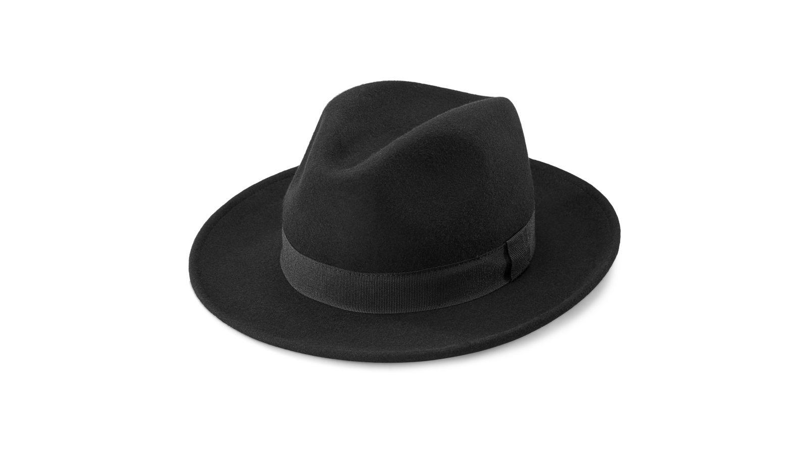 Fido Alessandria fekete gyapjú fedora kalap  176282783d