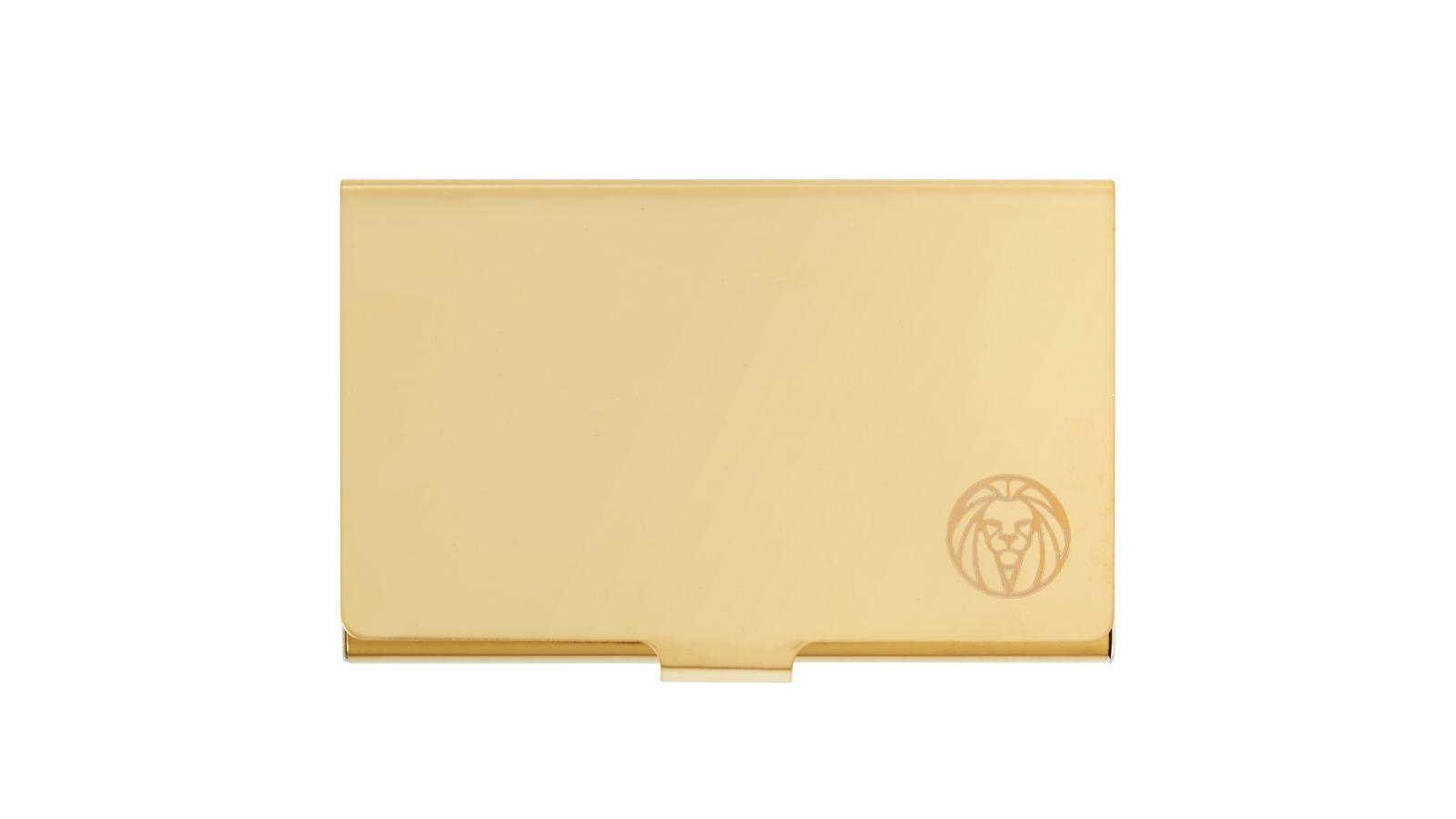Golden Steel Cardholder | Lucleon | In stock!