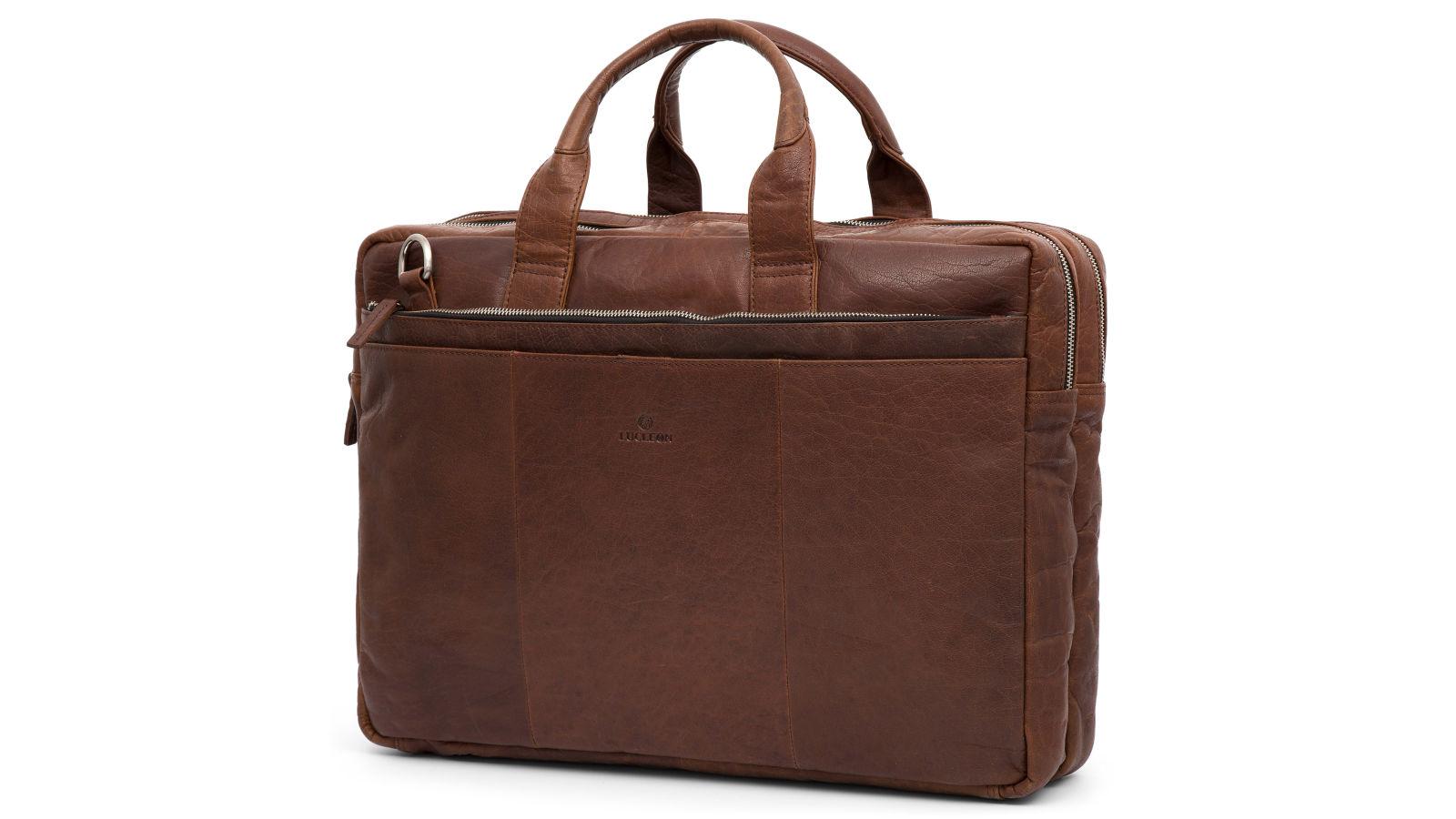 71dca3c746 Svetlo hnedá kožená taška na notebook Montreal XL