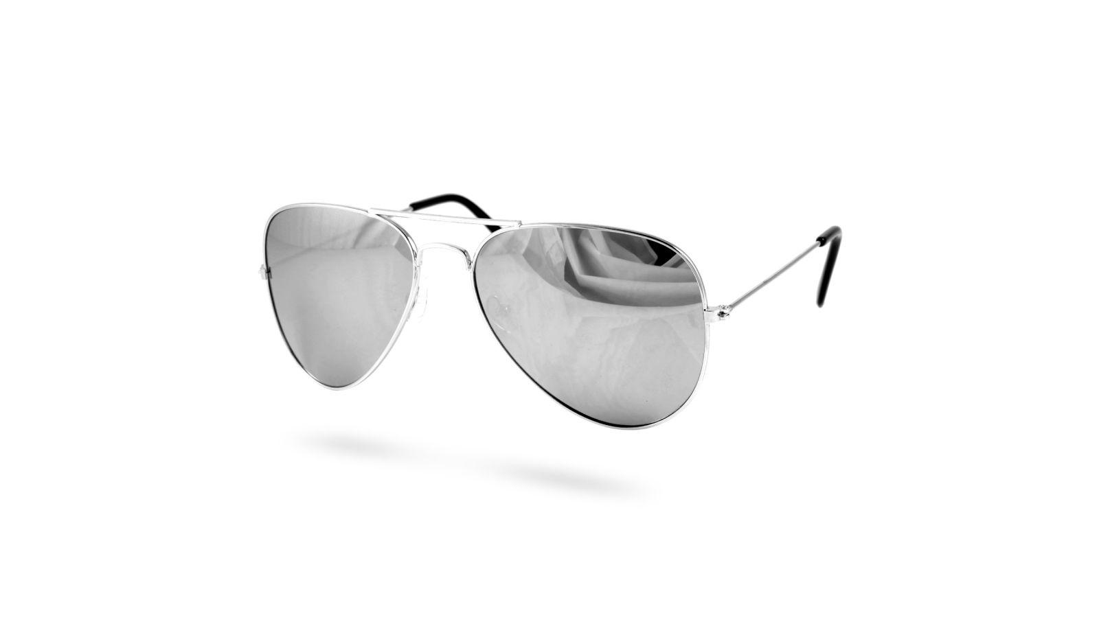 bc4c13280ab2 Sølv Aviator Solbriller