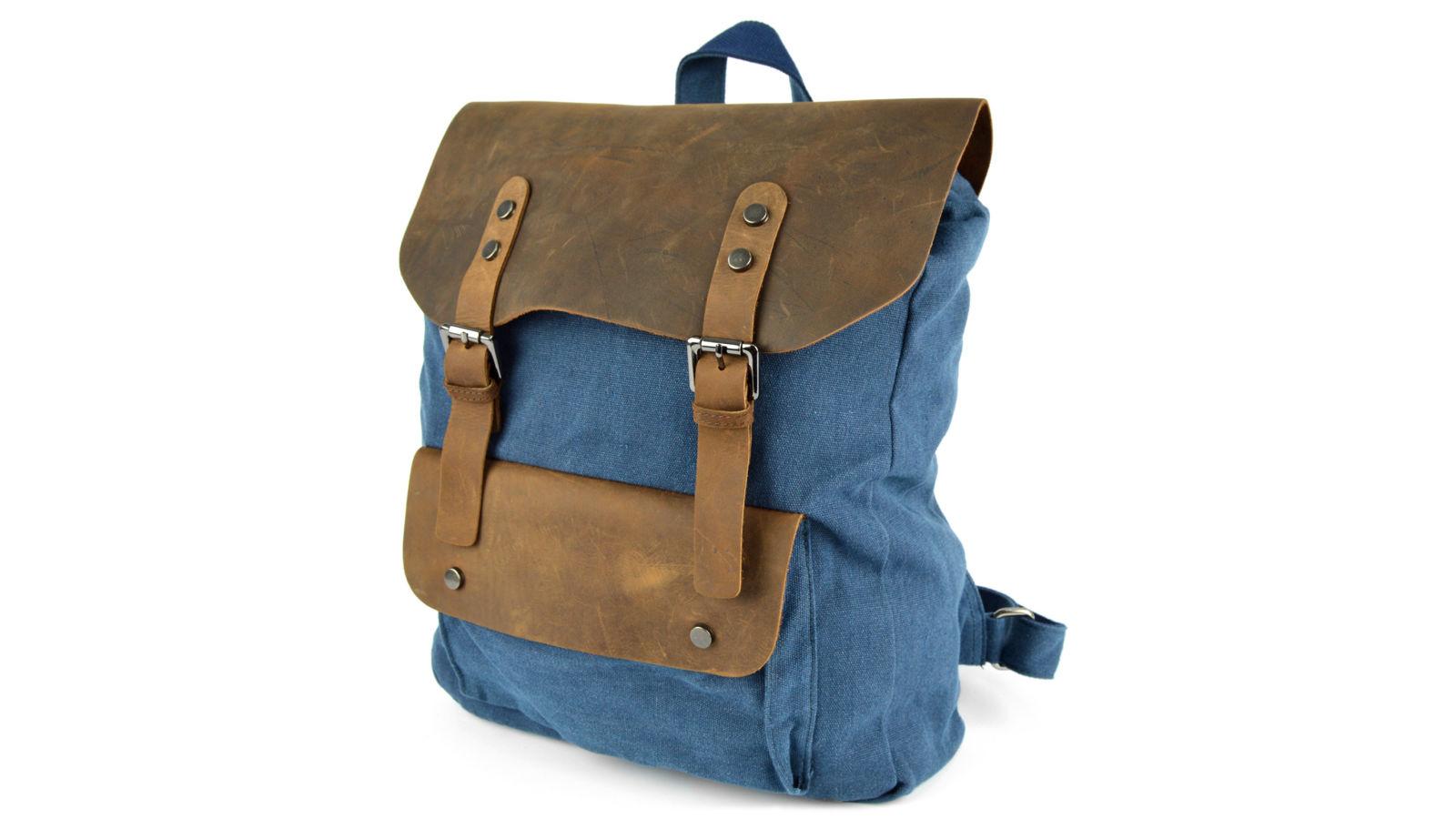 bd32e6e9e Plátený batoh v námorníckej modrej | Doručenie zdarma | Delton Bags