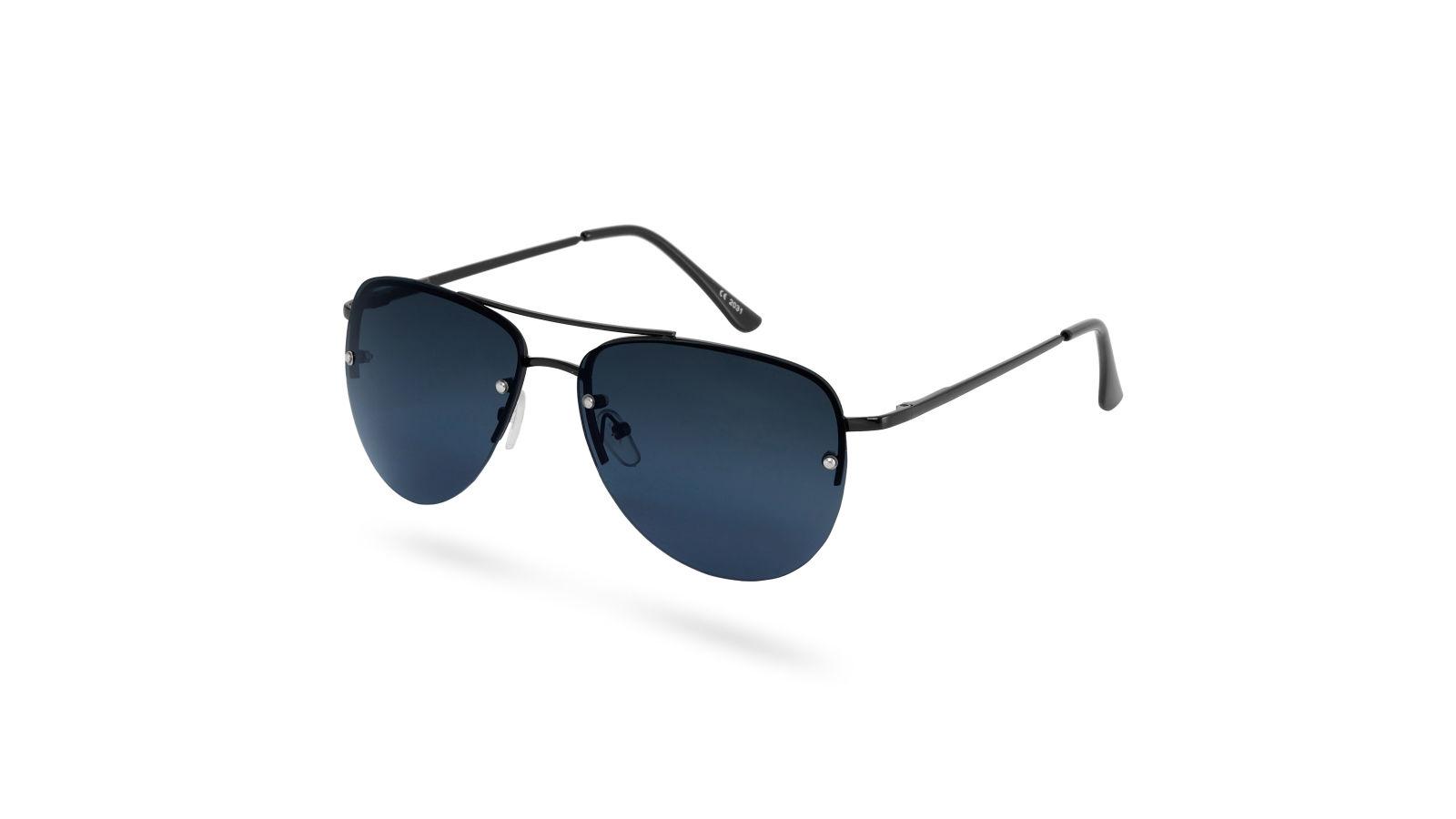 90fb306a56dd03 Volledig Zwarte Aviator Smoked Zonnebril