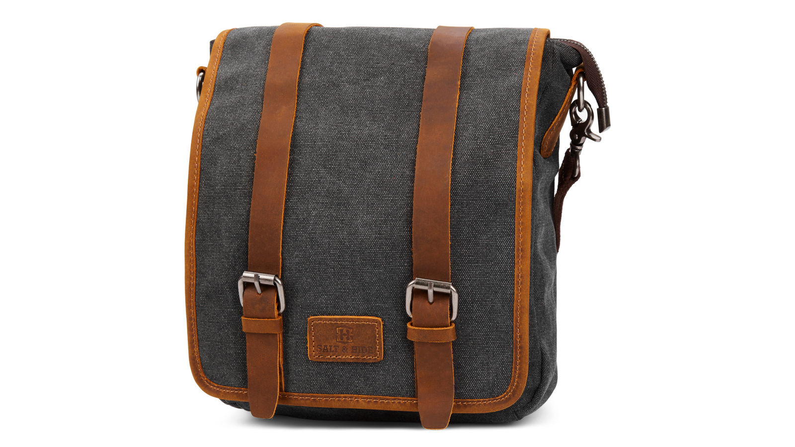 db9ec9fec95 Τσάντα Ταχυδρόμου (Messenger Bag) Sergio Grey & Tan Slim   Γρήγορη αποστολή    Salt & Hide
