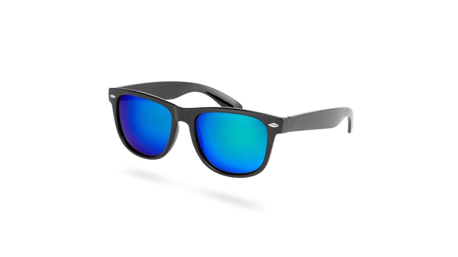 Occhiali da sole polarizzati con lenti a specchio verdi e blu disponibile - Occhiali lenti blu specchio ...