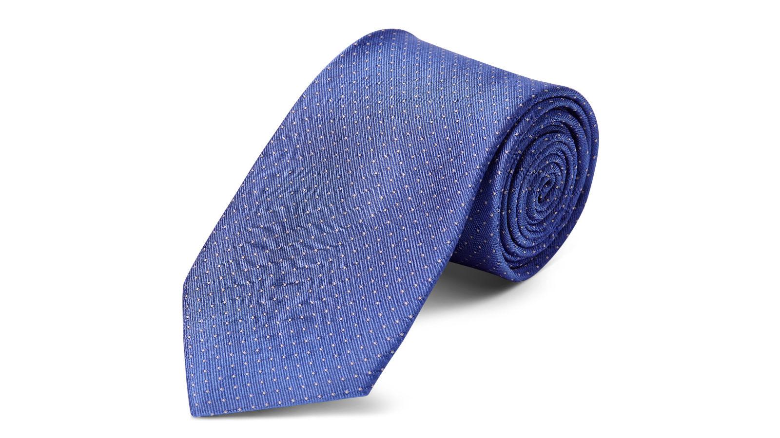 e7820a1e87 Pasztellkék selyem nyakkendő fehér pöttyös mintával - 8 cm | Készleten! |  TND Basics