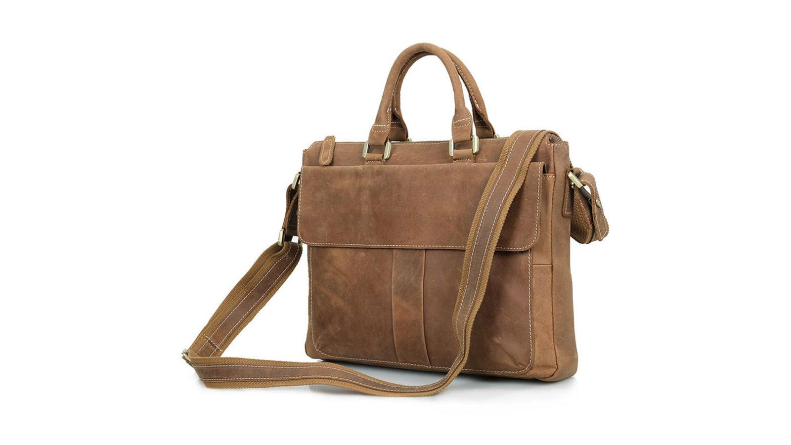 68e6fb701c6 Eenvoudige Bruine Lederen Tas | Gratis verzending | Delton Bags