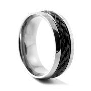 Gold & Silver Brushed Titanium Ring Trendhim