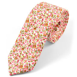 Pink Microfiber Tie Trendhim
