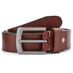 Embossed Mahogany Leather Belt Trendhim