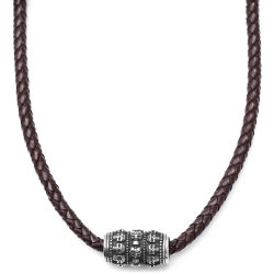Rune Thors Hammer Brown Leather Necklace Trendhim