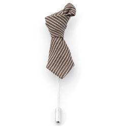 Brown & Cream Necktie Lapel Pin Trendhim