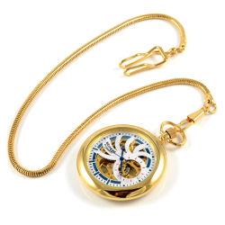 Zlato sfarbené mechanické vreckové hodinky  aac0d5a7f1e
