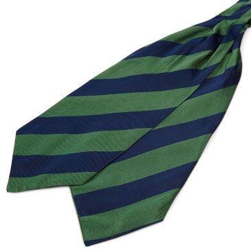 Pink Twin Stripe Navy Silk Cravat Trendhim