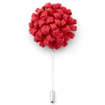 Kreative Rote Blumen Reversnadel Trendhim