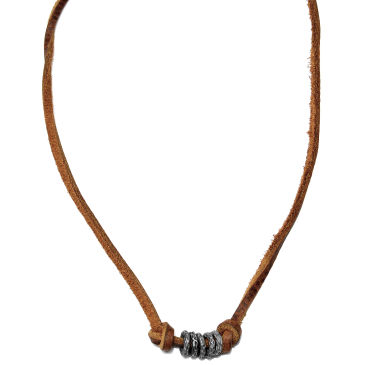 Rose Gold Leather Necklace Trendhim