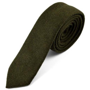 Raw Handmade Green Wool Pocket Square Trendhim