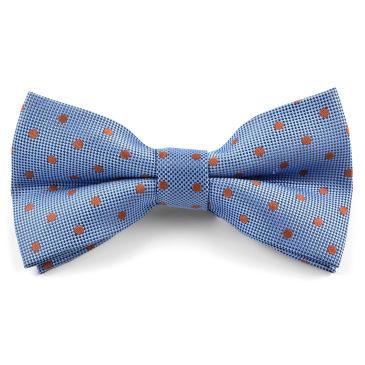 Orange Dotted Self-Tie Bow Tie Trendhim