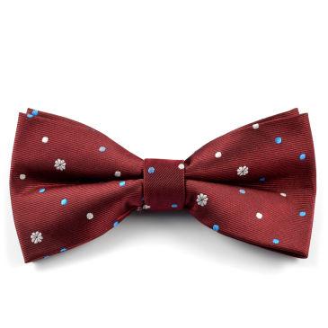 Bordeaux Velvet Paisley Bow Tie Trendhim