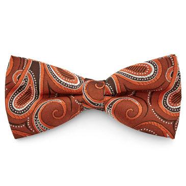 Autumn Bronze Toned Paisley Tie Trendhim