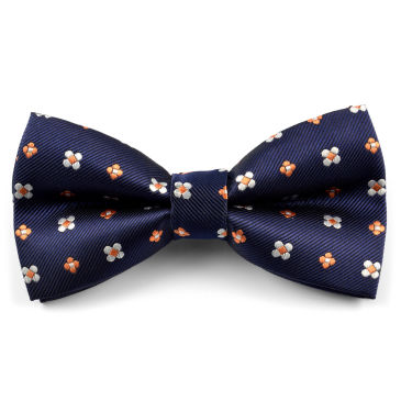 Pink & Blue Abstract Cotton Self Tie Bow Tie Trendhim