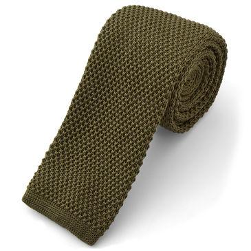 Striped Army Green Necktie Lapel Pin Trendhim