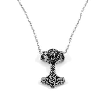 Silver Thors Hammer Steel Necklace Trendhim