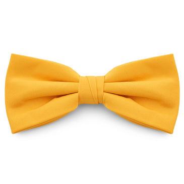 Ochre Yellow Pointy Pre-Tied Basic Bow Tie Trendhim