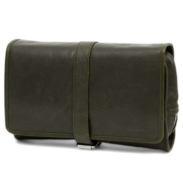 Petit sac en bandoulière Montréal en cuir vert olive