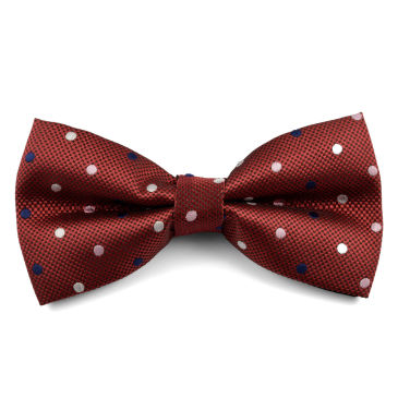 Red Polka Dot Silk Self Tie Bow Tie Trendhim