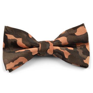 Gold Polka Dot Silk Self Tie Bow Tie Trendhim