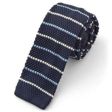 Simple Striped Knitted Tie Trendhim