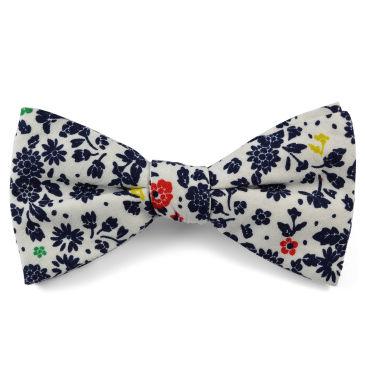 Blue Flower Bow Tie Trendhim