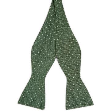 Burnished Brown Polka Dot Silk Self Tie Bow Tie Trendhim