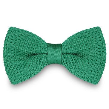 Emerald Green Basic Pointy Bow Tie Trendhim