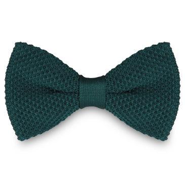 Dark Green Knitted Bow Tie Trendhim