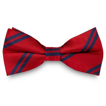 Pink Twin Stripe Navy Silk Bow Tie Trendhim
