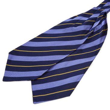 Red Twin Stripe Navy Silk Cravat Trendhim